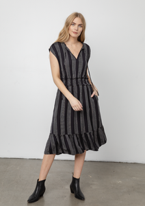 Ashlyn Dress in Sagrada Stripe