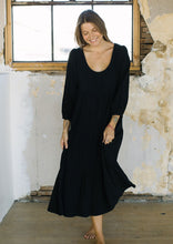 Load image into Gallery viewer, Linen Alice Dress Black