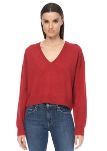 Deep V Neck Cashmere Sweater