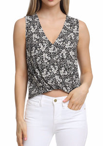 Elara Faux Wrap Top