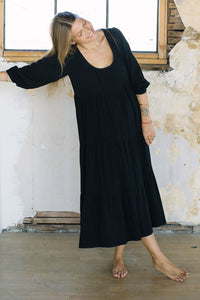Linen Alice Dress Black
