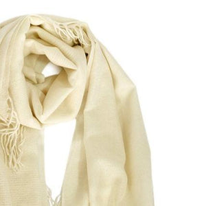 Amaya Cashmere Shawl in Cream
