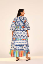 Load image into Gallery viewer, Blue Palms Midi Dress