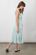 Load image into Gallery viewer, Cassia Dress Ivy Stripe