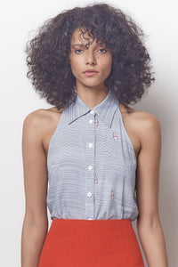 Dev Sleeveless Collared Top