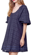 Load image into Gallery viewer, Hariette Puff Sleeve Mini Black Plaid