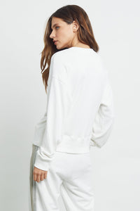 Ramona White Metallic Sweatshirt