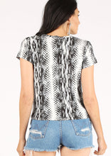 Load image into Gallery viewer, Boa Print Short Sleeve Crew