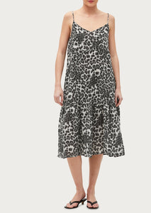 Giovanni Leopard Dress in Blue