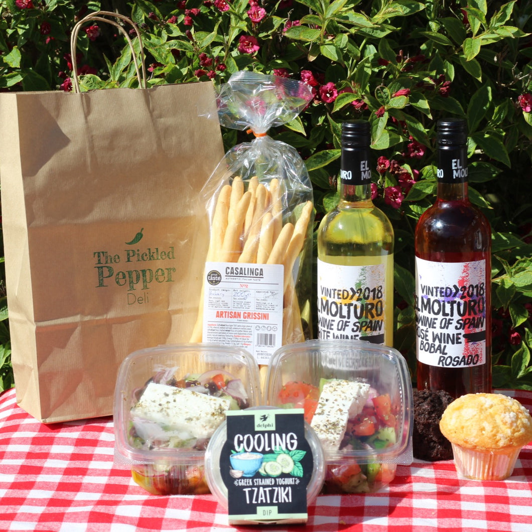Pickled Pepper Picnic Package + a Bottle of wine