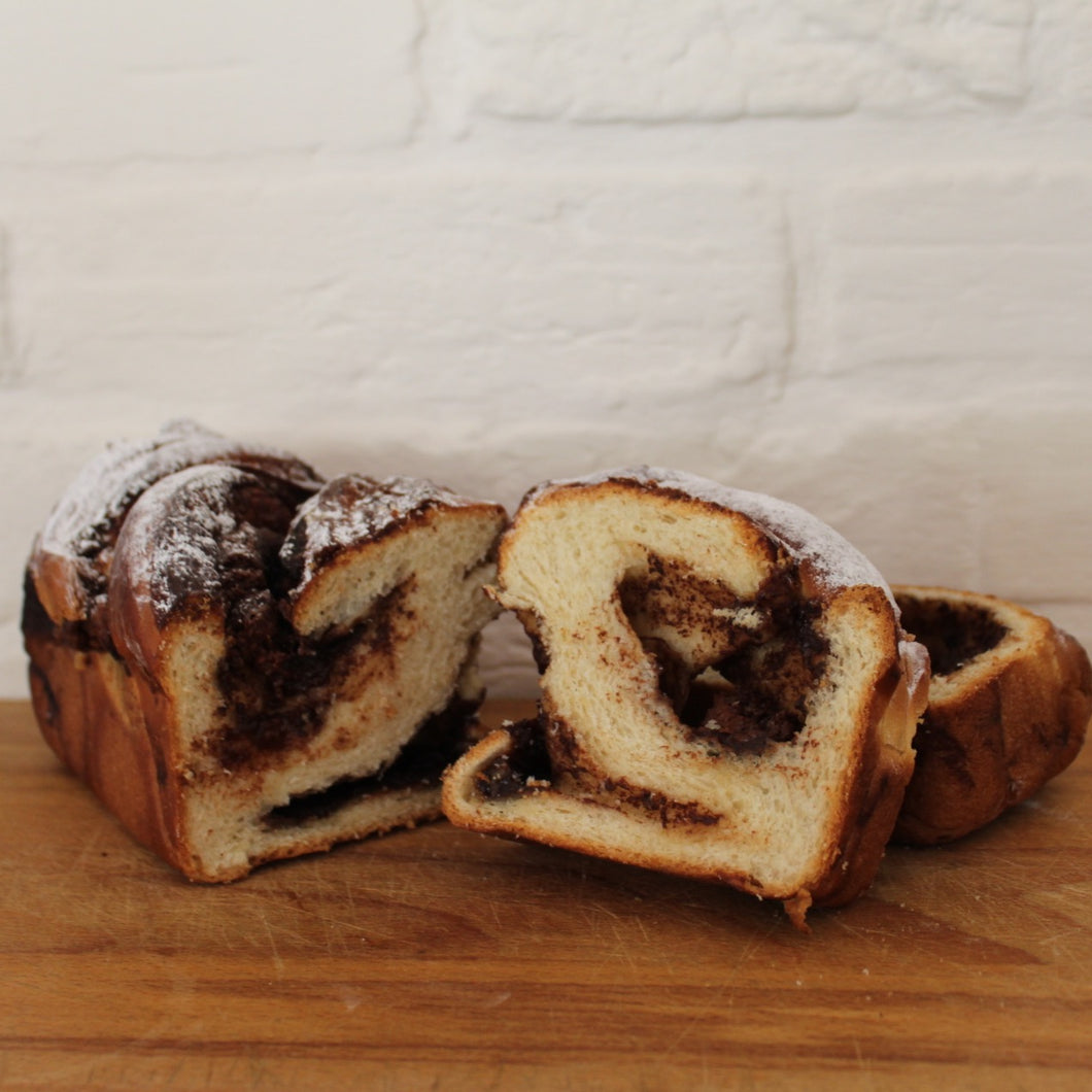 Nutella and banana brioche