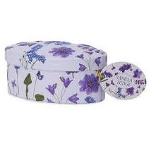 Flower fudge tins