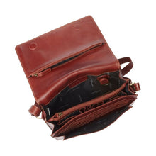 Load image into Gallery viewer, The inside of the whiskey handbag with many pockets for phone, cards, keys