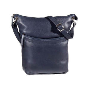 Navy bucket style handbag  with an adjustable strap by Derek Alexander.