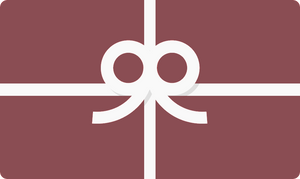 Burgandy gift card with white bow