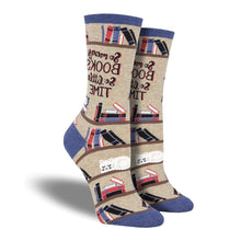 Load image into Gallery viewer, Women's Time For A Good Book Socks