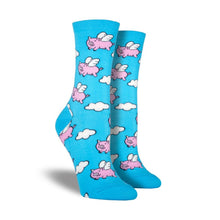 Load image into Gallery viewer, Women's When Pigs Fly Socks