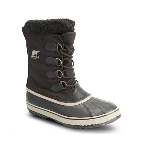 Winter boot by Sorel with elastic stretch at front and white accent lines at base