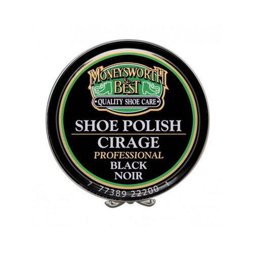 Black tin for black shoe polish