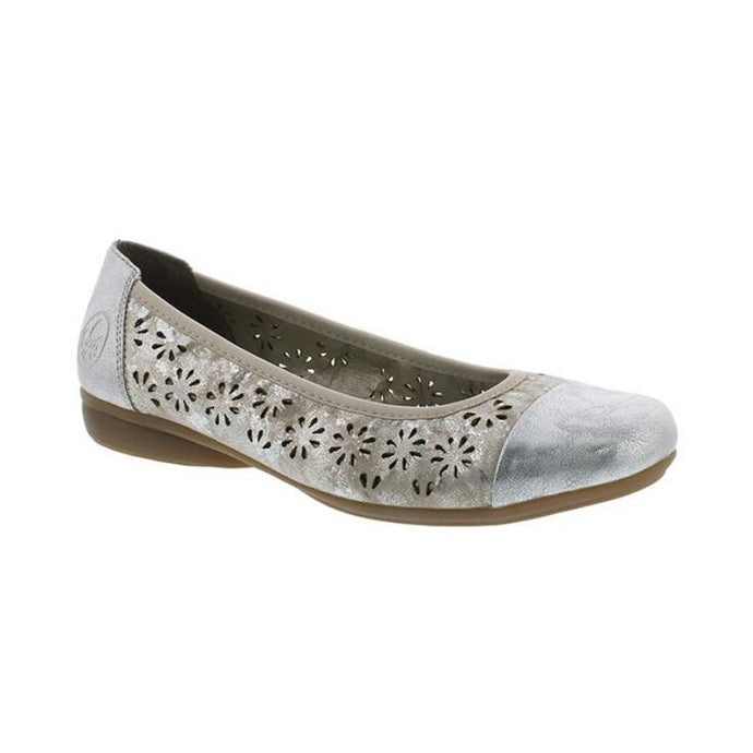 Silver flat with floral perforations