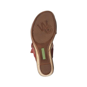 Tan outsole of the Kimmy sandal by Walking Cradles