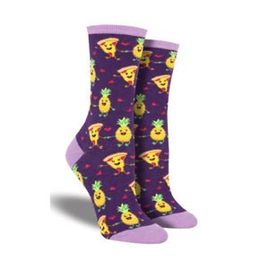 Women's Pineapple Loves Pizzas Socks