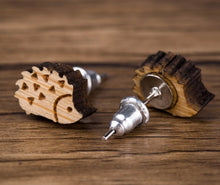 Load image into Gallery viewer, Wooden stud earrings
