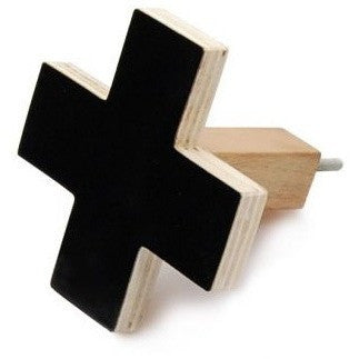 Cross Wall Hook - Large Black