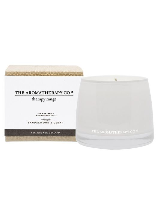 Therapy® Candle Strength - Sandalwood & Cedar