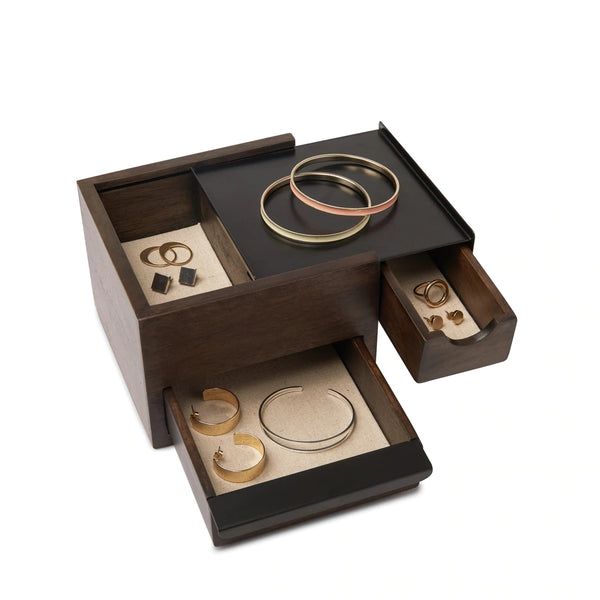 UMBRA | MINI STOWIT JEWELRY BOX WALNUT/BLACK