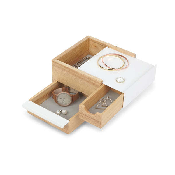 UMBRA | MINI STOWIT JEWELRY BOX NATURAL/WHITE