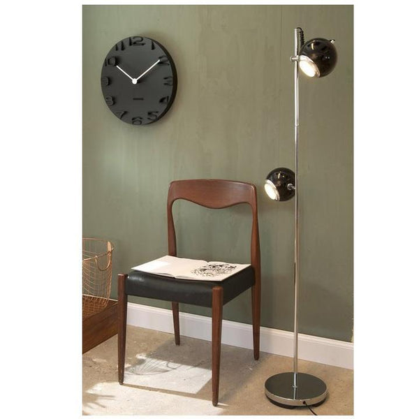 KARLSSON | On The Edge Wall Clock - Black (42cm)