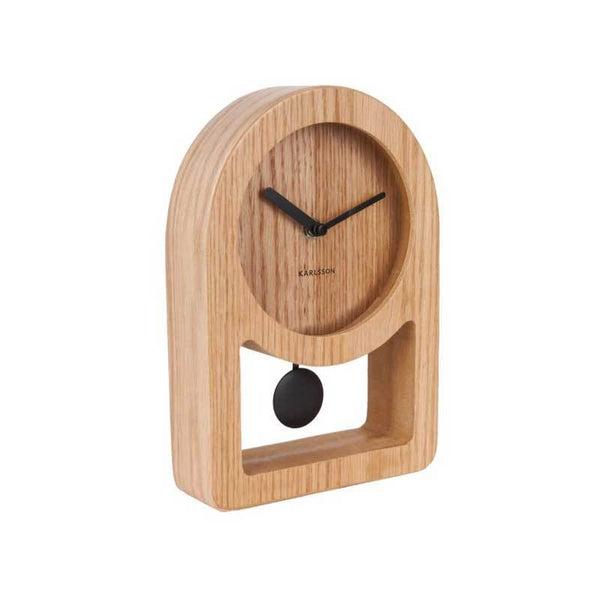 KARLSSON | Lena Wood Pendulum Table Clock