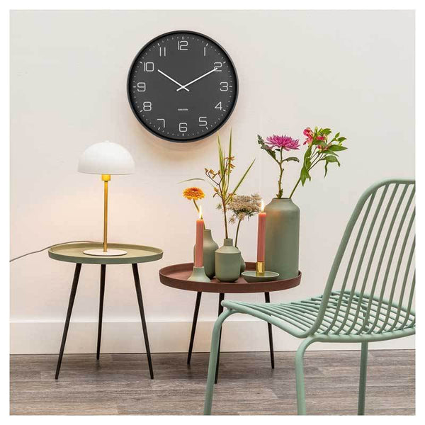 KARLSSON | Lofty Wall Clock - Black (40cm)