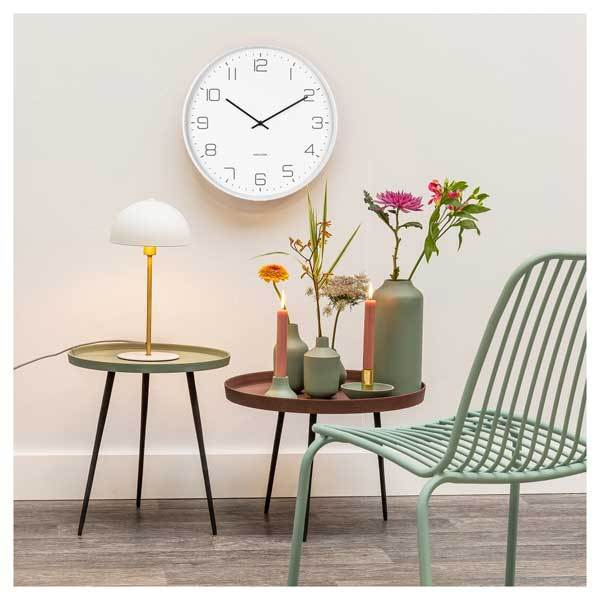 KARLSSON | Lofty Wall Clock - White (40cm)