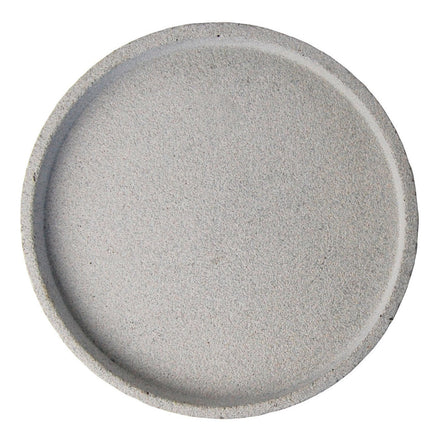 Concrete Round Tray - Large Natural