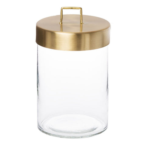 Glass Jar - Large Brass