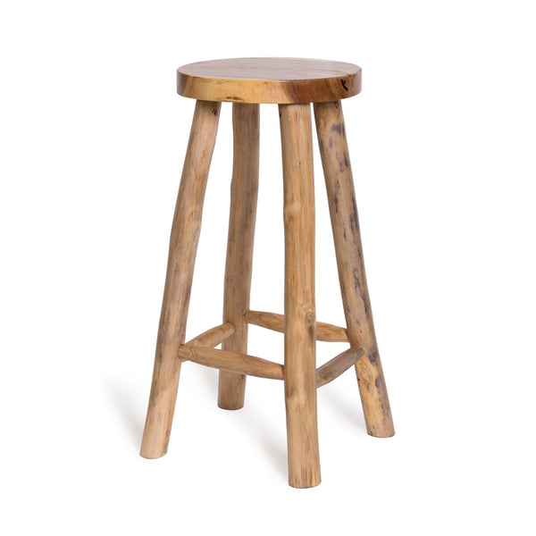 ERICK TEAK BAR STOOL RND