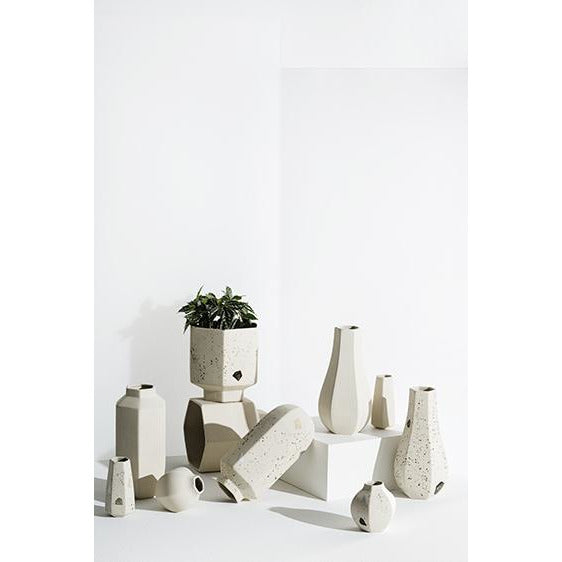 ZAKKIA | Carved Vase Rounded - Confetti