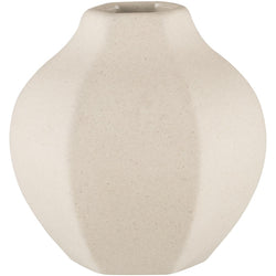 ZAKKIA | Carved Vase Rounded - Natural