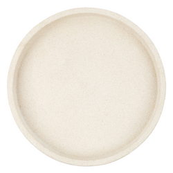 ZAKKIA Concrete Round Tray - Large White