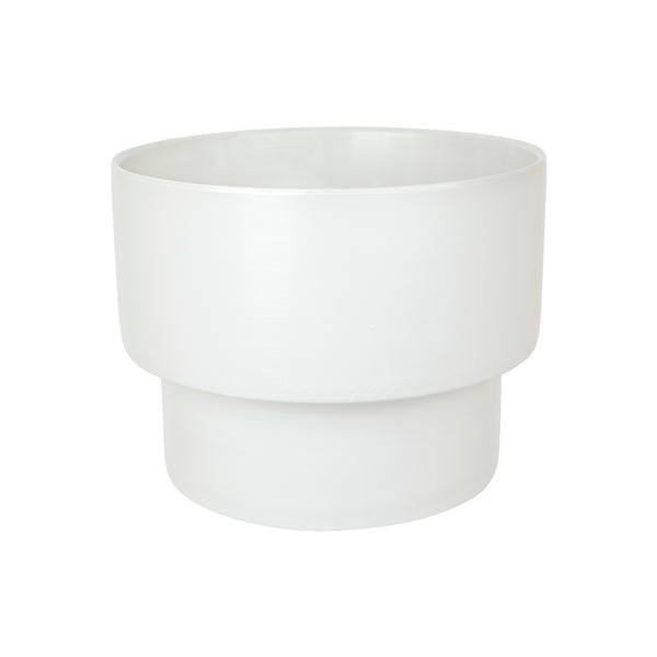 ZAKKIA | Podium Pot - Large Glazed White