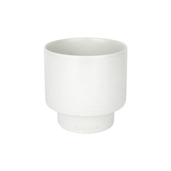 ZAKKIA | Podium Pot - Medium Glazed White