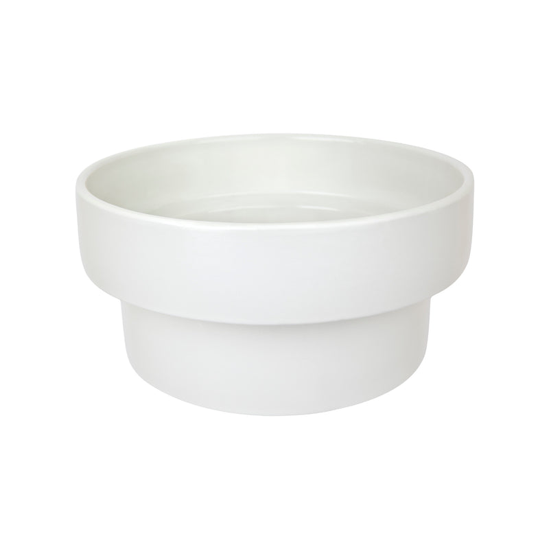 ZAKKIA | Podium Pot - Flat Glazed White