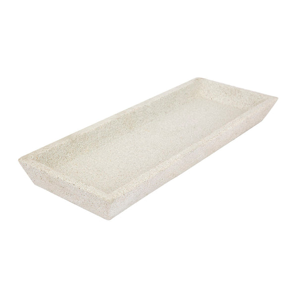 ZAKKIA | Concrete Square Tray - White