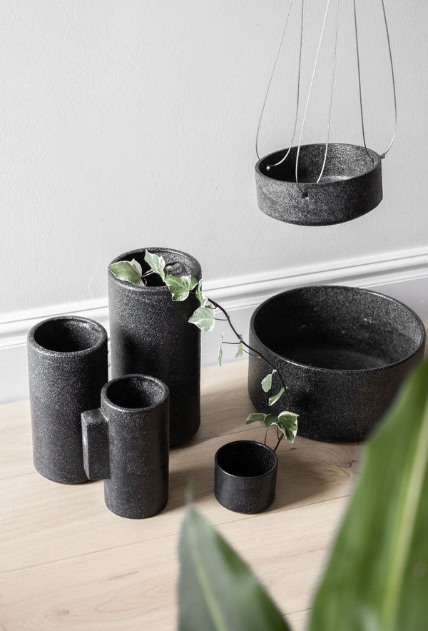 ZAKKIA | Embers Hanging Planter - Small Charred