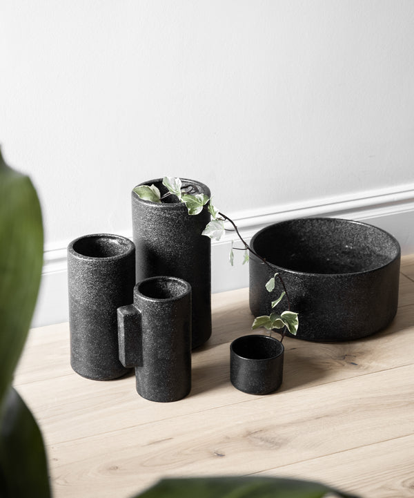 ZAKKIA | Embers Bowl Planter - Large Charred