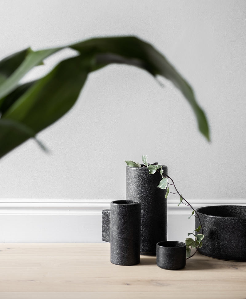 ZAKKIA | Embers Table Planter - Small Charred