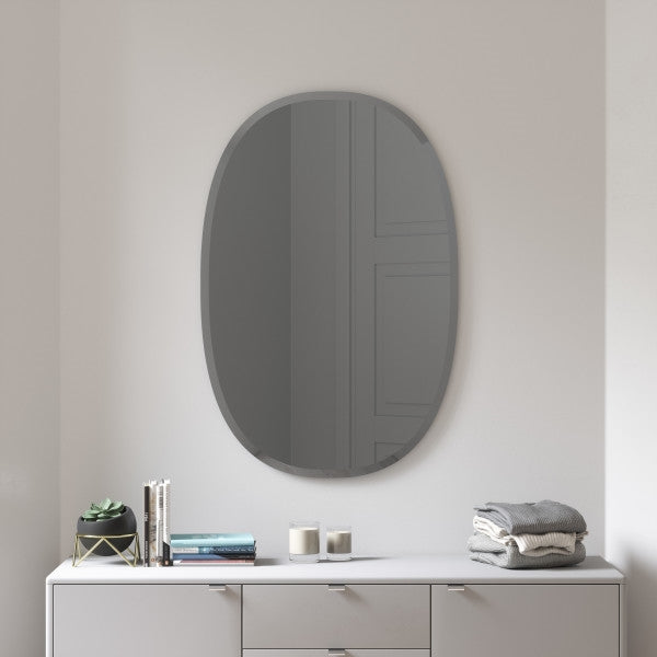 UMBRA | Hub Mirror - Bevy Oval 24X36 - Smoke
