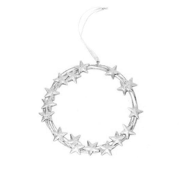 Hanging Silver Starburst Wreath